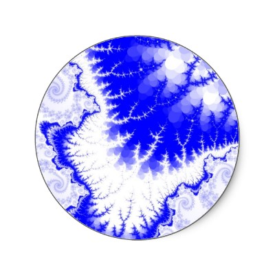 Blue Feathered Star Sticker