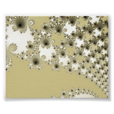 Gold Urchins Poster