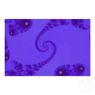 Blue Purple Double Spiral Poster