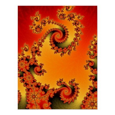 Flaming Hot Double Spiral Poster