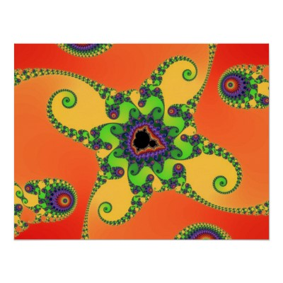 Rainbow Octopuses Poster