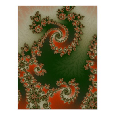 Pimento Olive Double Spiral Poster