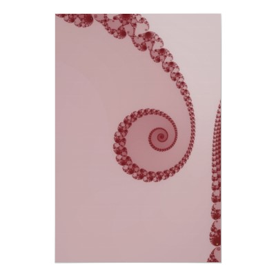 Plum Simple Spiral Poster