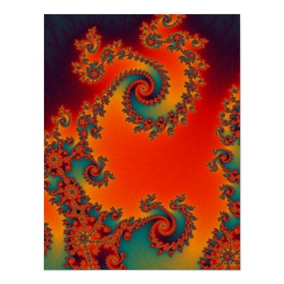 Circus Double Spiral Poster