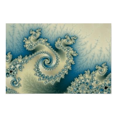 Seaside Triple Twirl Poster