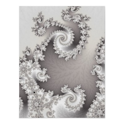 Silver Double Spiral Poster