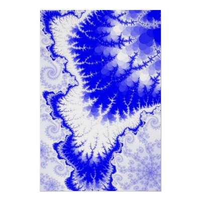 Blue Feathered Star Poster