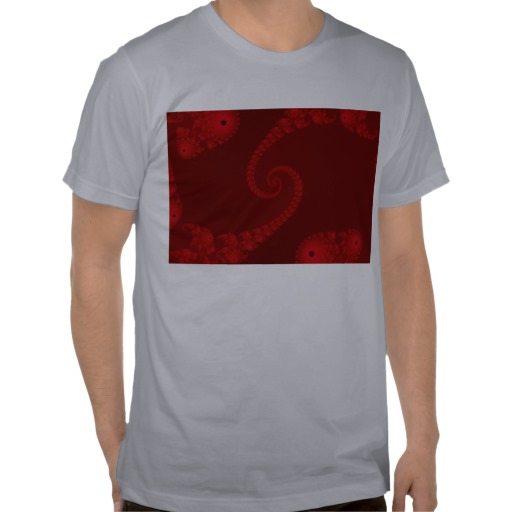 Deep Red Double Spiral T-Shirt