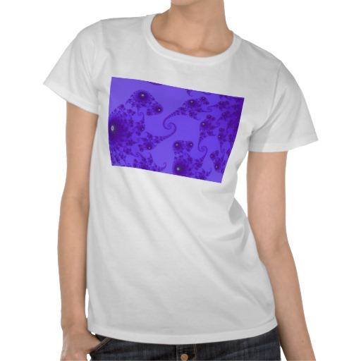 Blue Purple Seahorse Herd T-Shirt