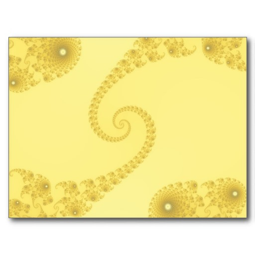 Yellow Gold Double Spiral Postcard