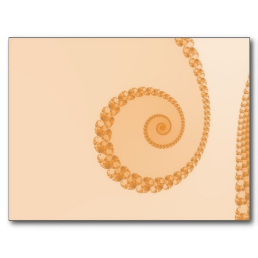 Gold Simple Spiral Postcard