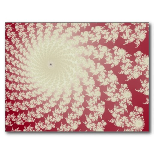Smooth Red Whirlpool Postcard